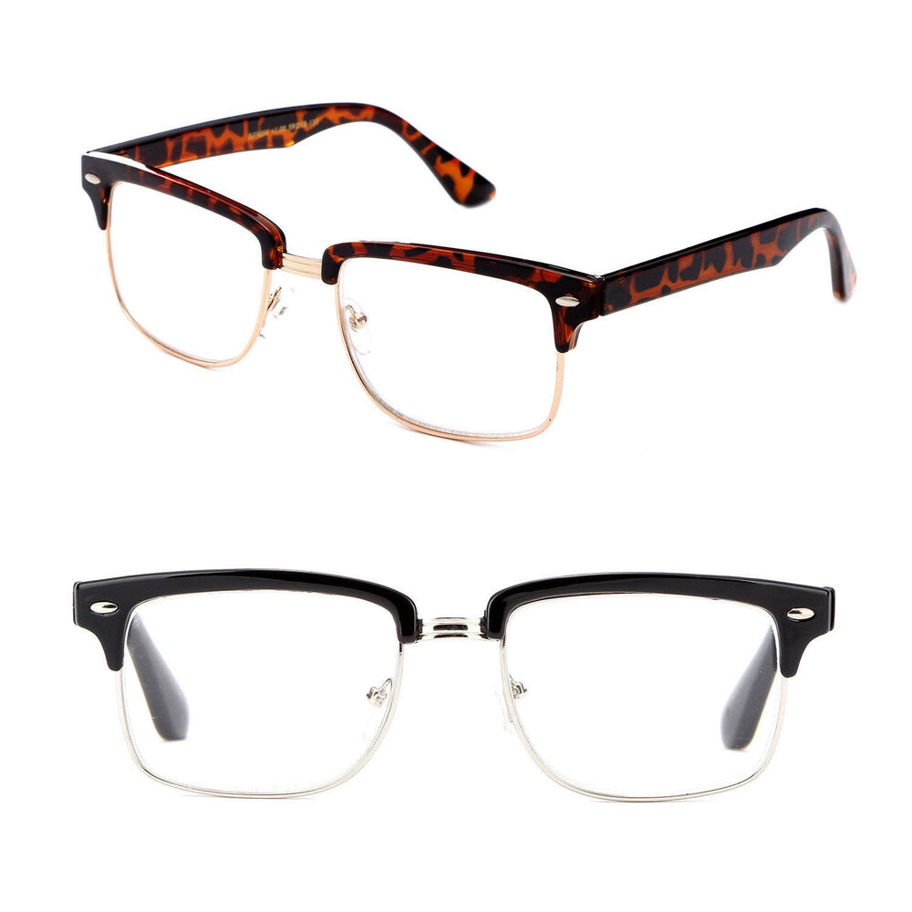 Half Frame Reading Glasses : New Rectangular Half Frame Vintage Style Reading ...