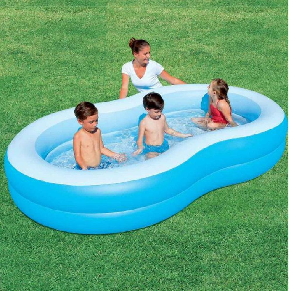 Bestway inflatable blue lagoon family lounge paddling for Family garden pool