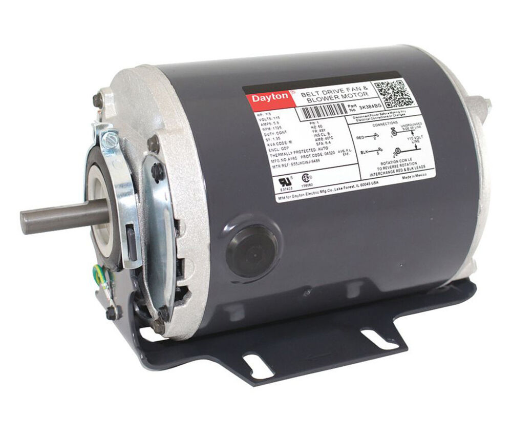 1 3hp 1725rpm 115v whole house fan motor dayton 3k384 ebay for 3 phase 3hp motor