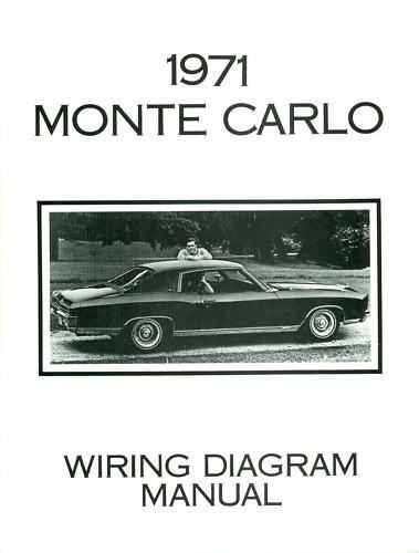 1971 CHEVROLET MONTE CARLO WIRING DIAGRAM MANUAL | eBay