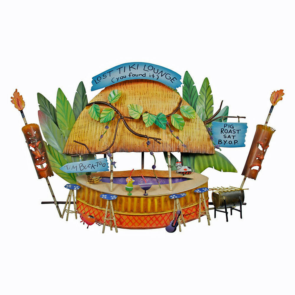Wall art island tiki lounge metal wall sculpture for Decor island