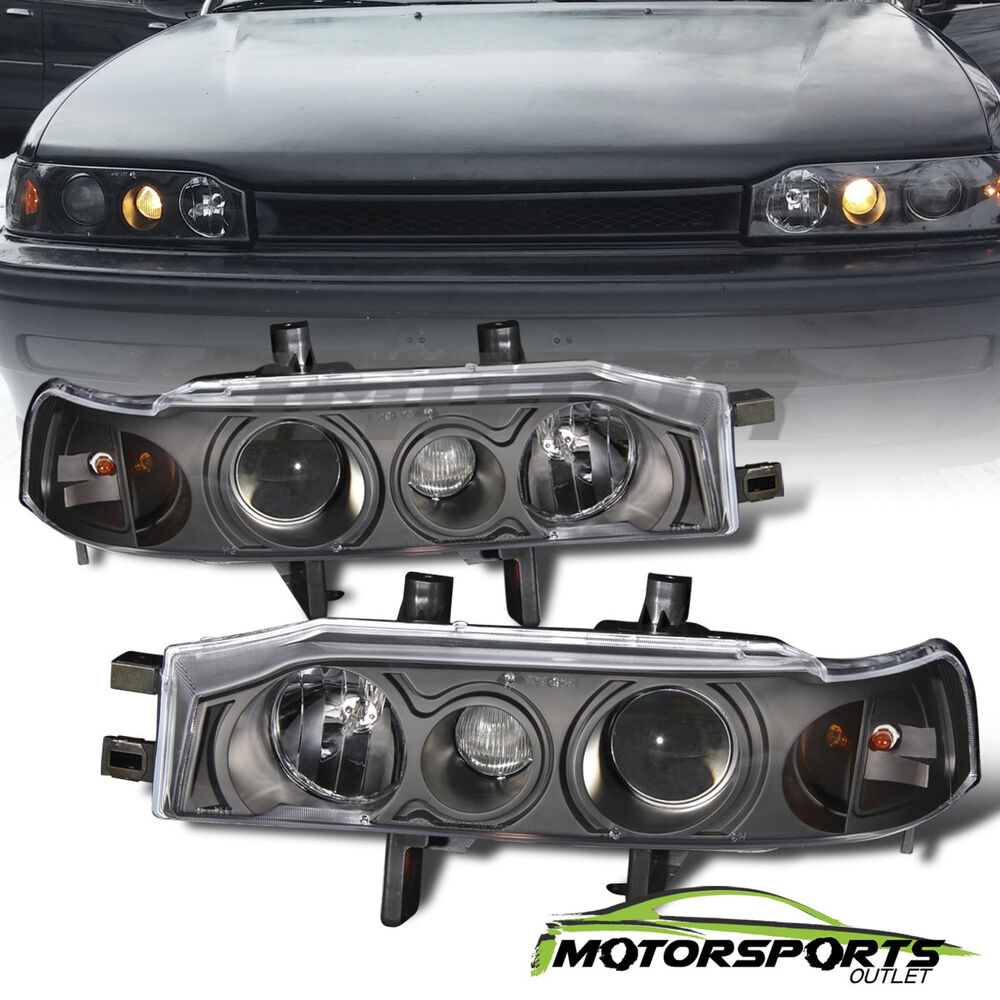 1990 1991 1992 1993 Honda Accord Projector Black