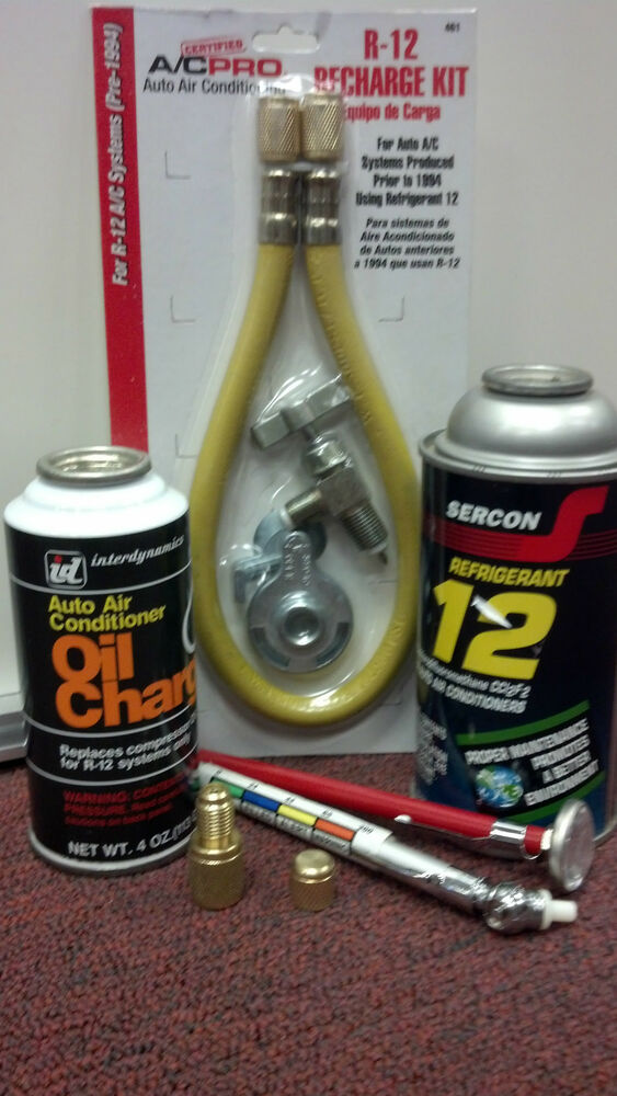 R12 Refrigerant 12 Refrigeration Ac Recharge Kit W Oil Charge R 12 Therm Ebay