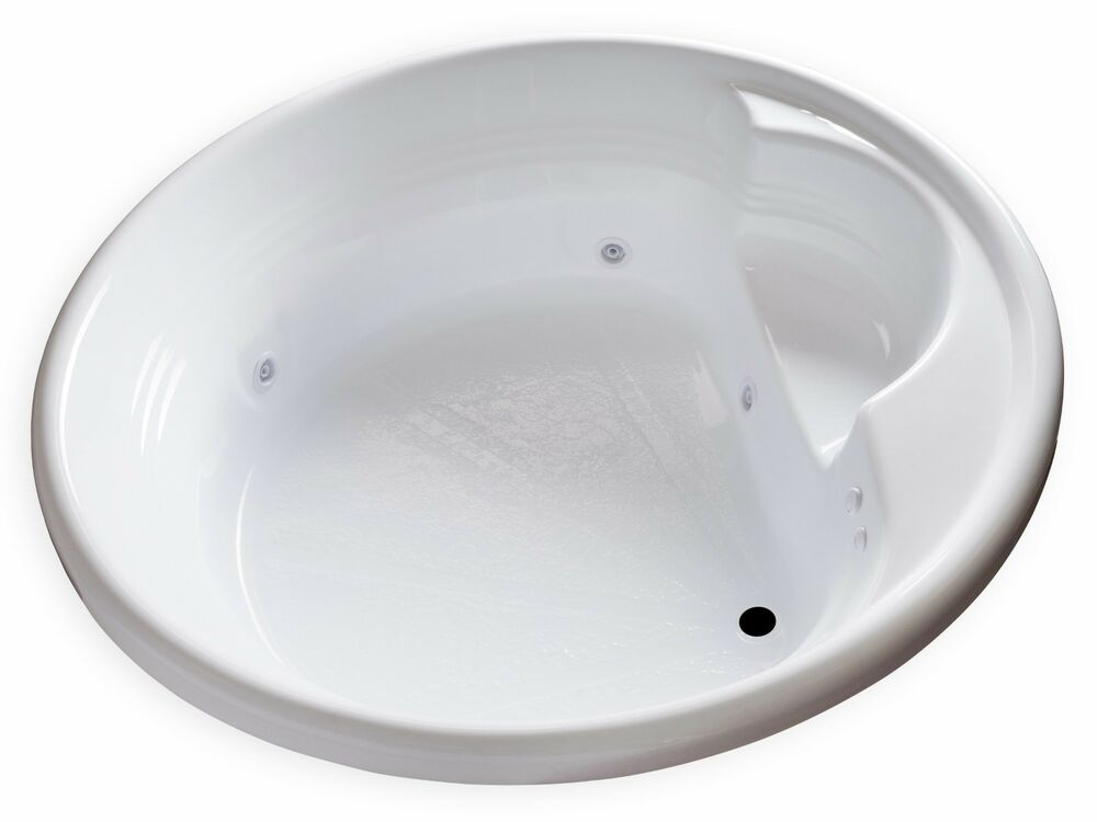 Carver Tubs Fl7272 72 Inch Round 100 Gallon Whirlpool