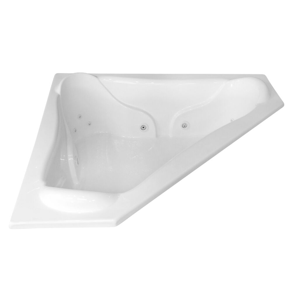 Carver Tubs NW7272 72 X 72 Corner Whirlpool Jetted Bathtub W 1
