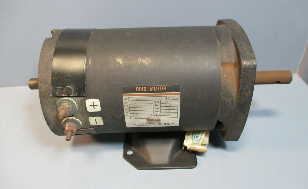 Tennant 01192 24 vdc electric motor 1 hp 2000 rpm d for 15 hp brushless electric motor