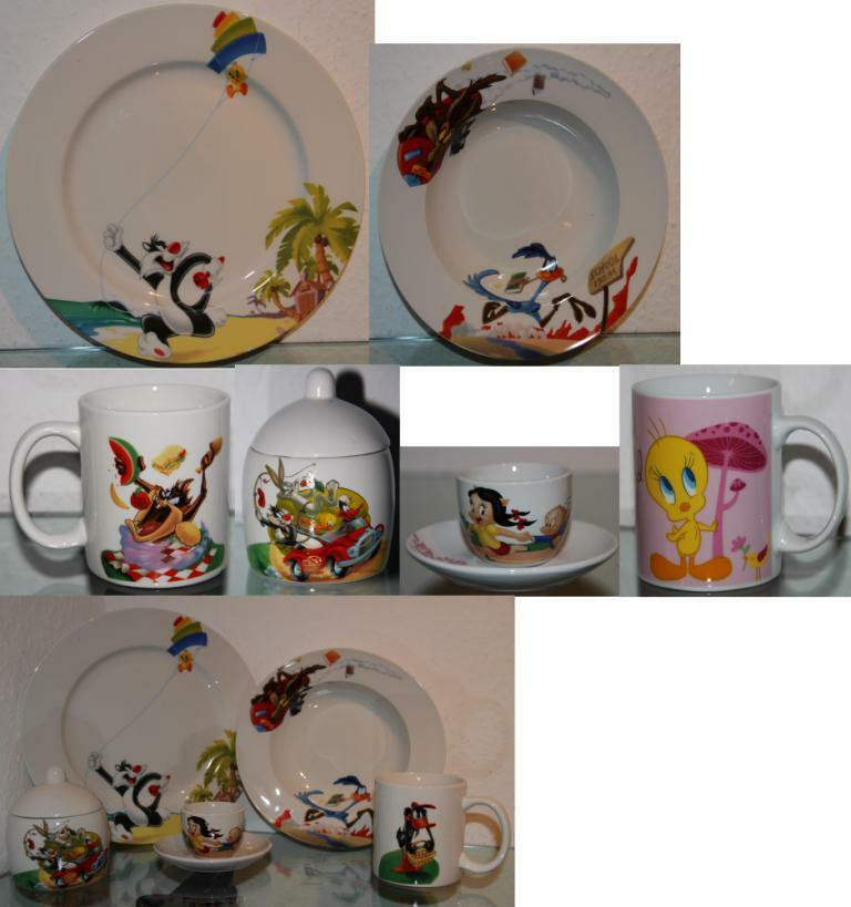 looney tunes geschirr aussuchen set oder einzeln teller tasse zuckerdose becher ebay. Black Bedroom Furniture Sets. Home Design Ideas