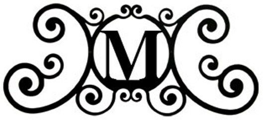 new black wrought iron monogram letter over the door house plaques metal decor ebay