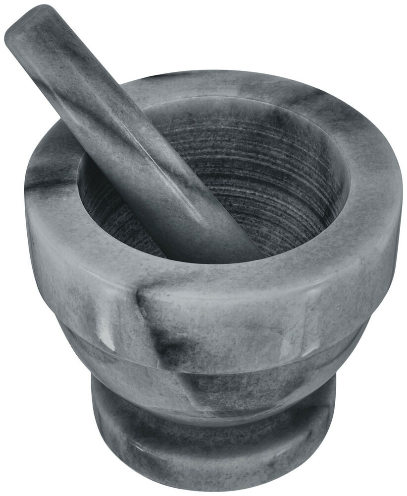 judge grey polished marble mortar and pestle small large ebay. Black Bedroom Furniture Sets. Home Design Ideas