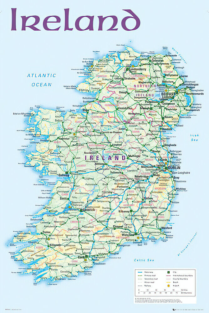 Smart image throughout ireland map printable