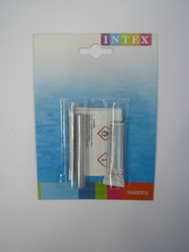 1 set intex reparatur kleber flicken mit kleber pvc pool for Pool reparaturset folie