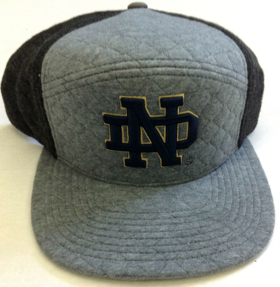 52189040441 Details about NCAA Notre Dame Fighting Irish Mitchell and Ness Fleece Snapback  Cap Hat M N NEW