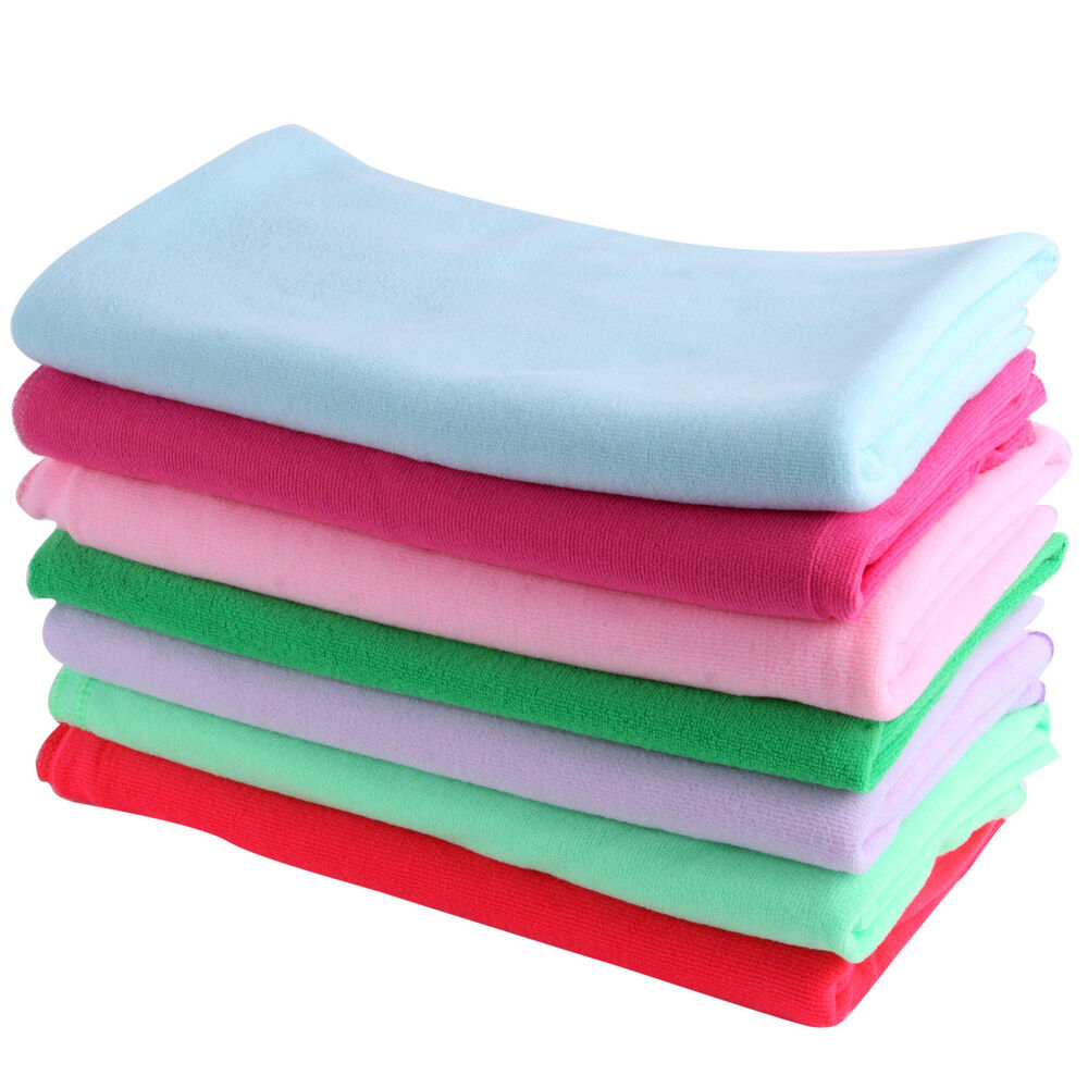 Soft Absorbent Microfiber Beach Bath Towels Travel Sport