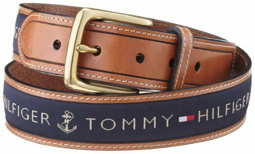 tommy hilfiger yachting herren lederg rtel navy g rtel belt l nge w hlbar ebay. Black Bedroom Furniture Sets. Home Design Ideas