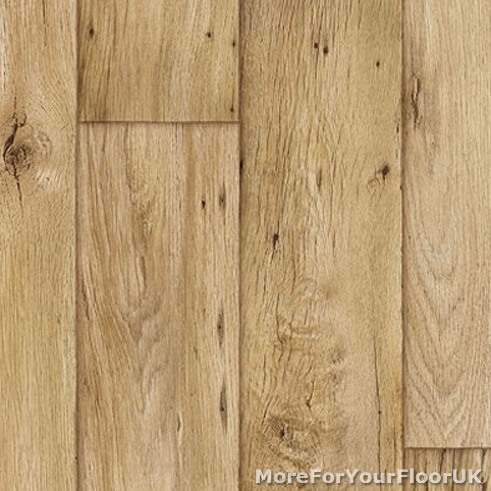 Thick vinyl flooring realistic warm wood plank for Wood linoleum