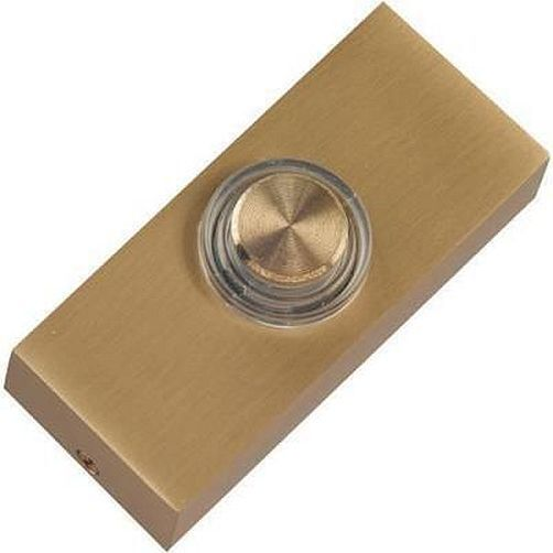 Brass door bell push with light illuminated lit made for Door bell push