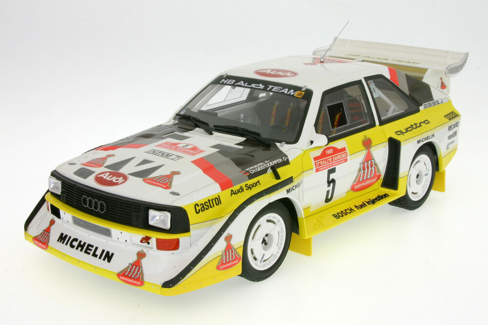 1 18 audi sport quattro s1 team hb r hrl rallye san remo 1985 otto 130 ebay. Black Bedroom Furniture Sets. Home Design Ideas