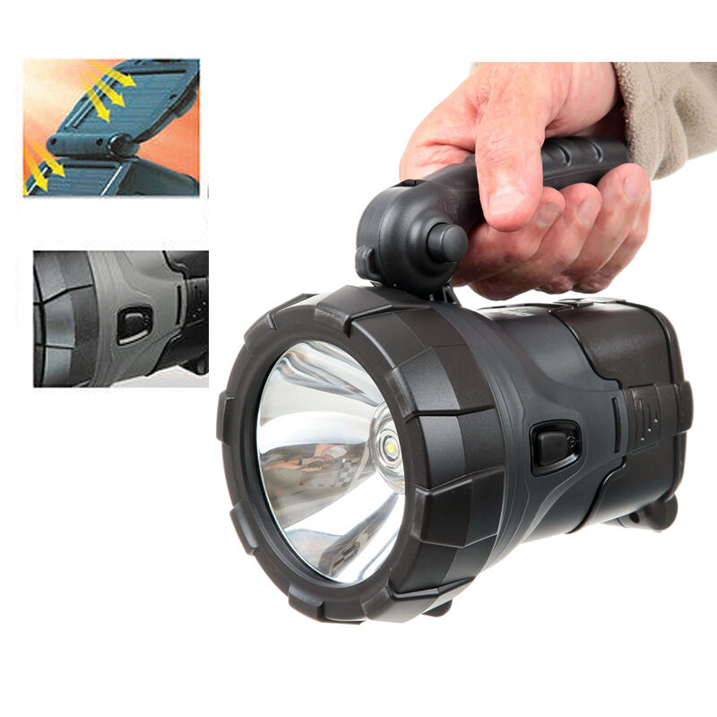 Rechargeable Led Work Light Torch Solar Powered 1w Led