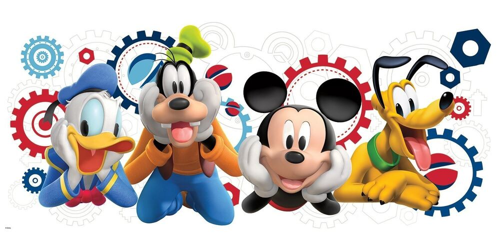 Disney mickey mouse clubhouse giant wall decal room decor - Mickey mouse clubhouse bedroom decor ...