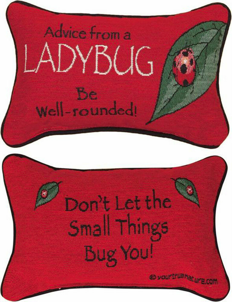 DECORATIVE PILLOWS - ADVICE FROM A LADYBUG REVERSIBLE PILLOW eBay