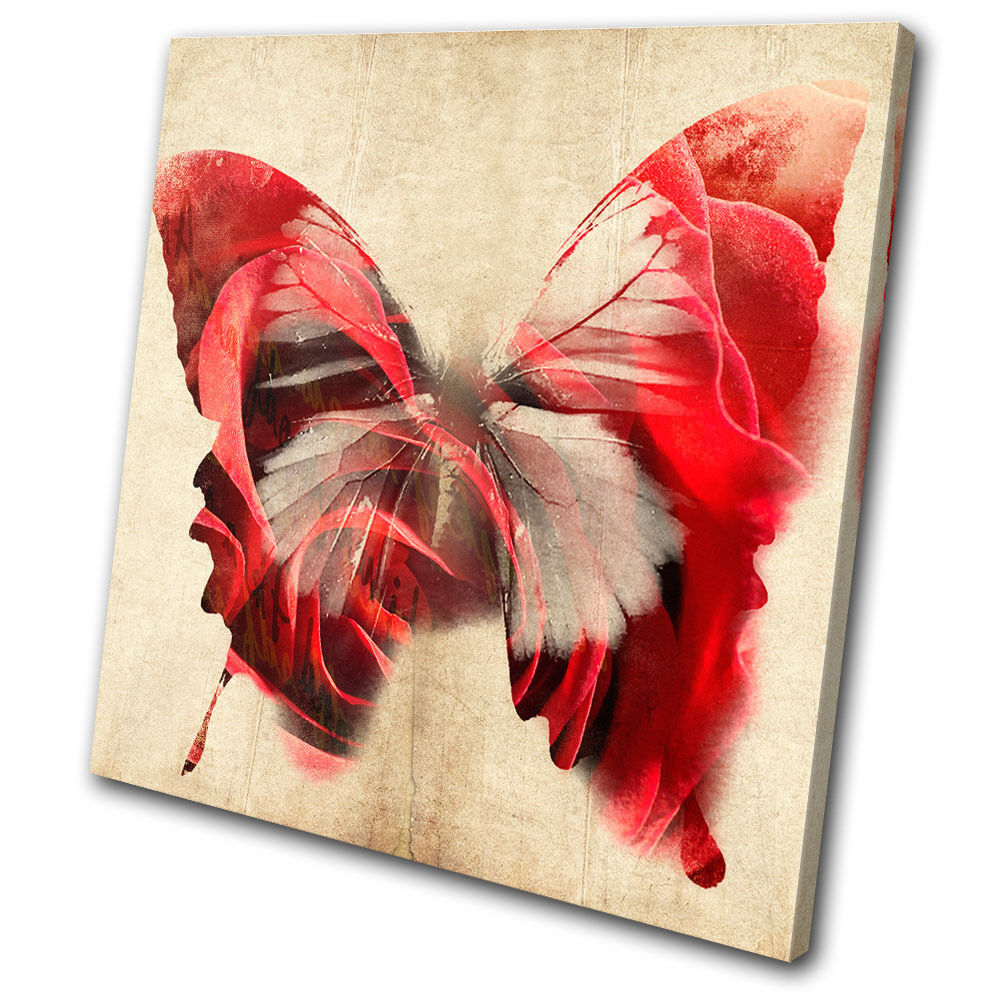 Illustration butterfly single canvas wall art picture for Canvas prints to buy