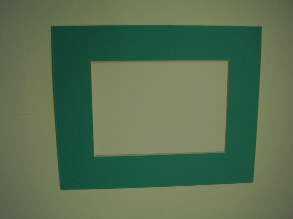 picture frame mats set of 3 custom cut turquoise blue 8x10 and x 11 5 ebay. Black Bedroom Furniture Sets. Home Design Ideas
