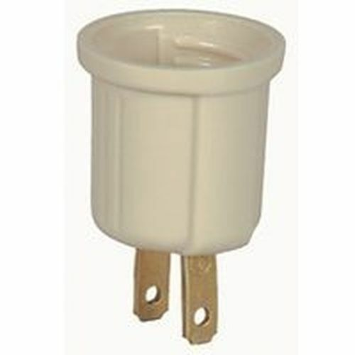 4186375 ivory plug in socket base to light bulb adapter sale ebay. Black Bedroom Furniture Sets. Home Design Ideas