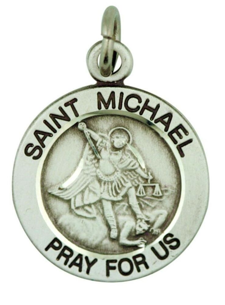 st michael the archangel pray for us pendant 3 4