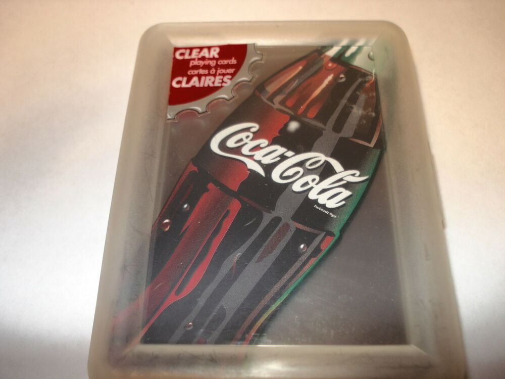 coca cola deck of clear cards depicting a bottle of coca cola ebay. Black Bedroom Furniture Sets. Home Design Ideas