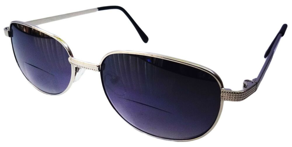 TWO PAIRS BIFOCAL LARGE SILVER READING SUNGLASSES METAL ...