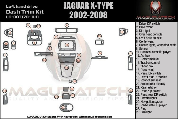 fits jaguar x type 02 08 manual trans with navigation wood Jaguar X-Type Interior Parts Jaguar X-Type Interior Parts