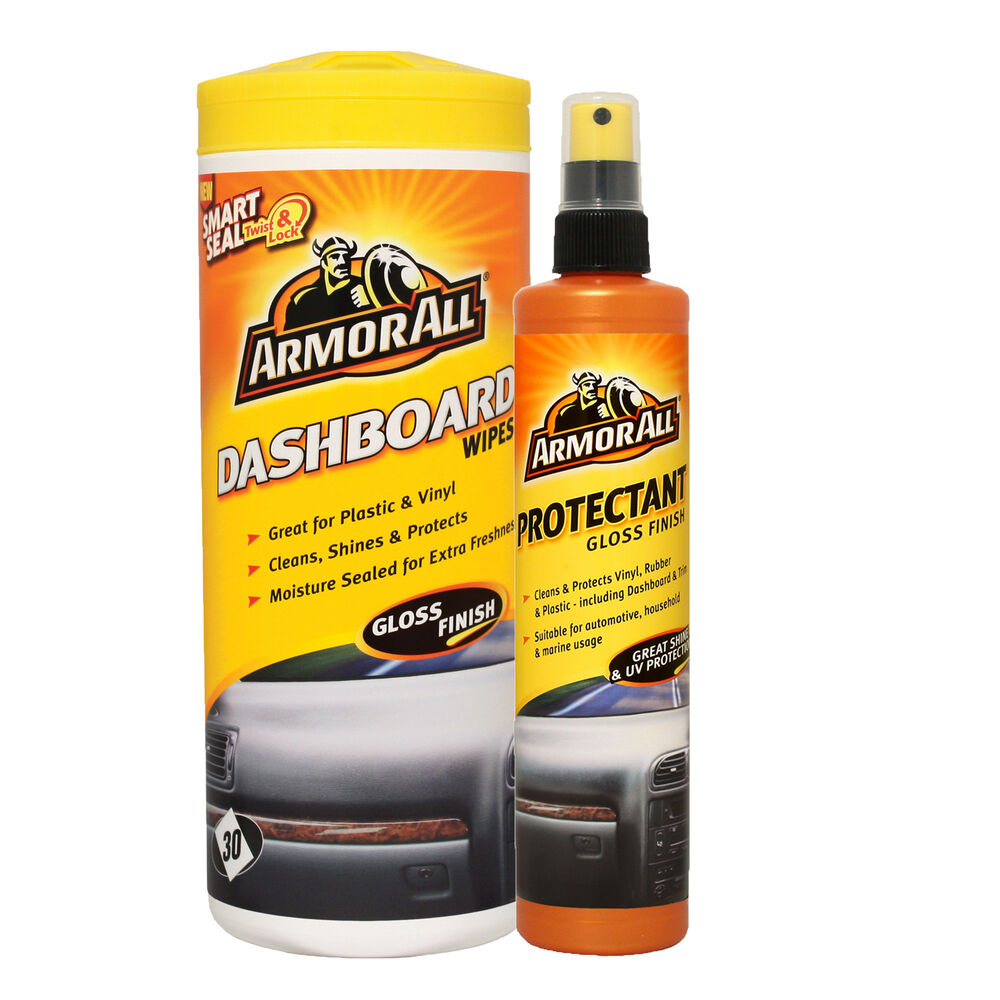 armorall protectant car cleaner spray dashboard interior wipes gloss finish ebay. Black Bedroom Furniture Sets. Home Design Ideas