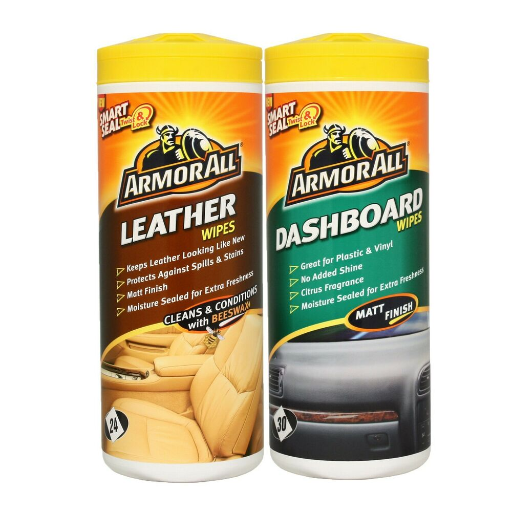 armorall leather cleaning wipes tub car dashboard interior wipes matt finish ebay