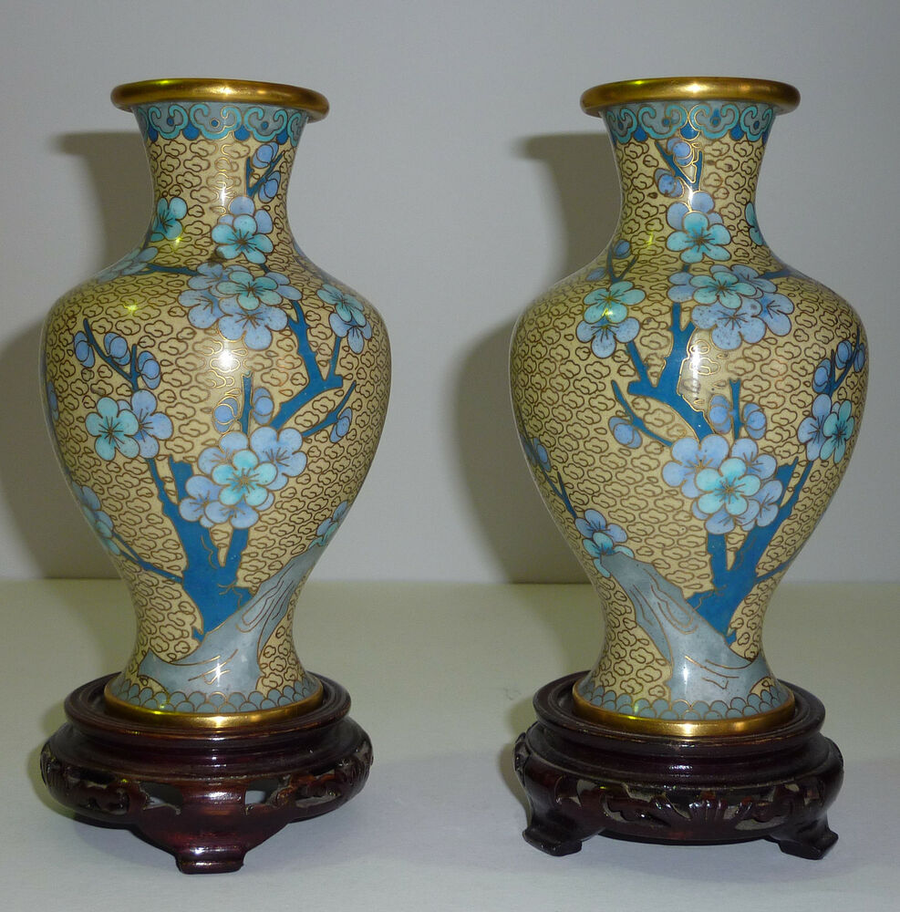 china paar cloisonne vasen asiatika chinesische porzellan vase cloisonn ebay. Black Bedroom Furniture Sets. Home Design Ideas