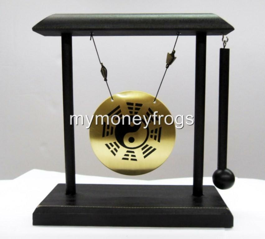 Feng shui yin yang chinese oriental brass table desk metal for Table yin yang