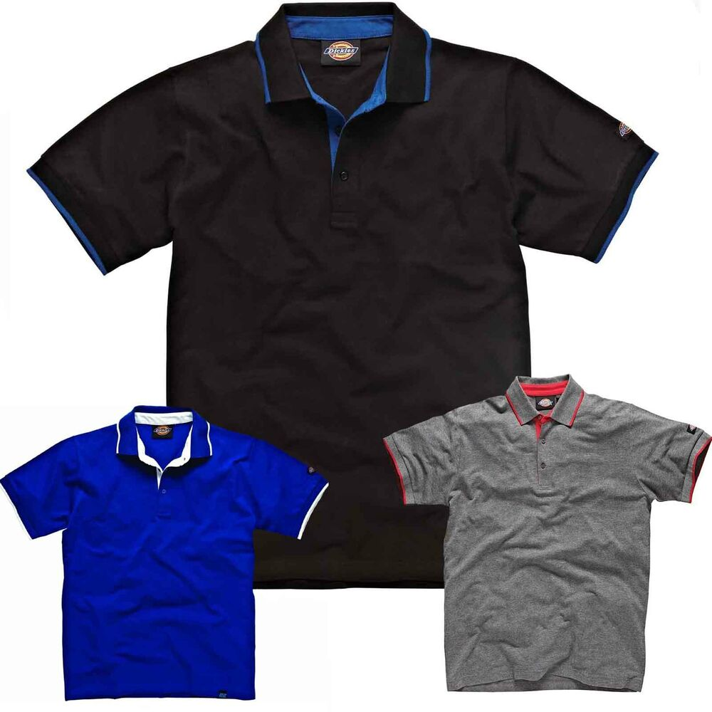 Brand new mens dickies casual work short sleeve polo for Mens work polo shirts