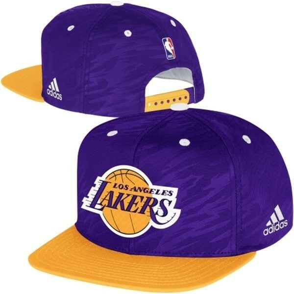 New Adidas Los Angeles Lakers Authentic On Court Snapback