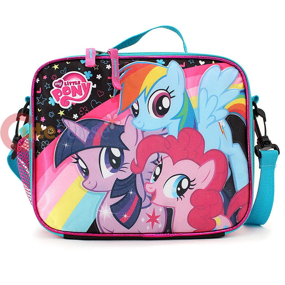 my little pony school lunch box insulated girls snack bag. Black Bedroom Furniture Sets. Home Design Ideas