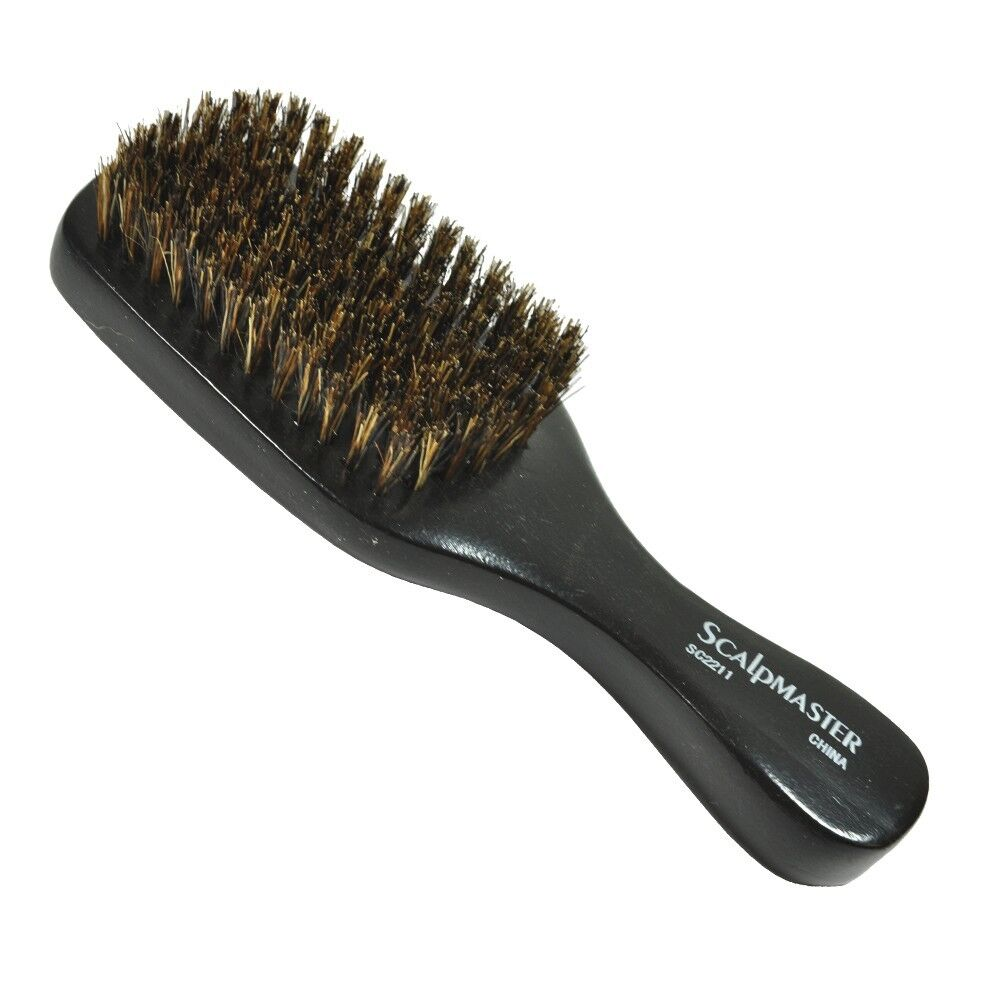 styling hair brushes scalpmaster sc2211 100 boar bristles club brush 8 row 7 5178
