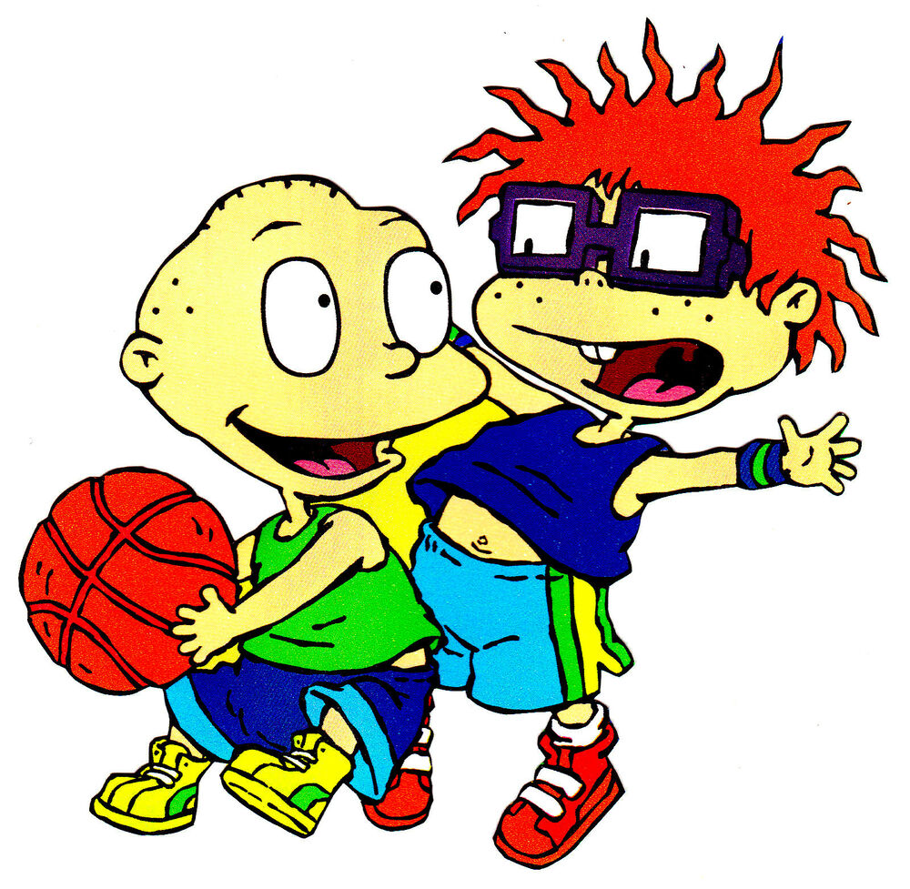 """5.5"""" RUGRATS TOMMY CHUCKIE SPORTS BASKETBALL PREPASTED"""
