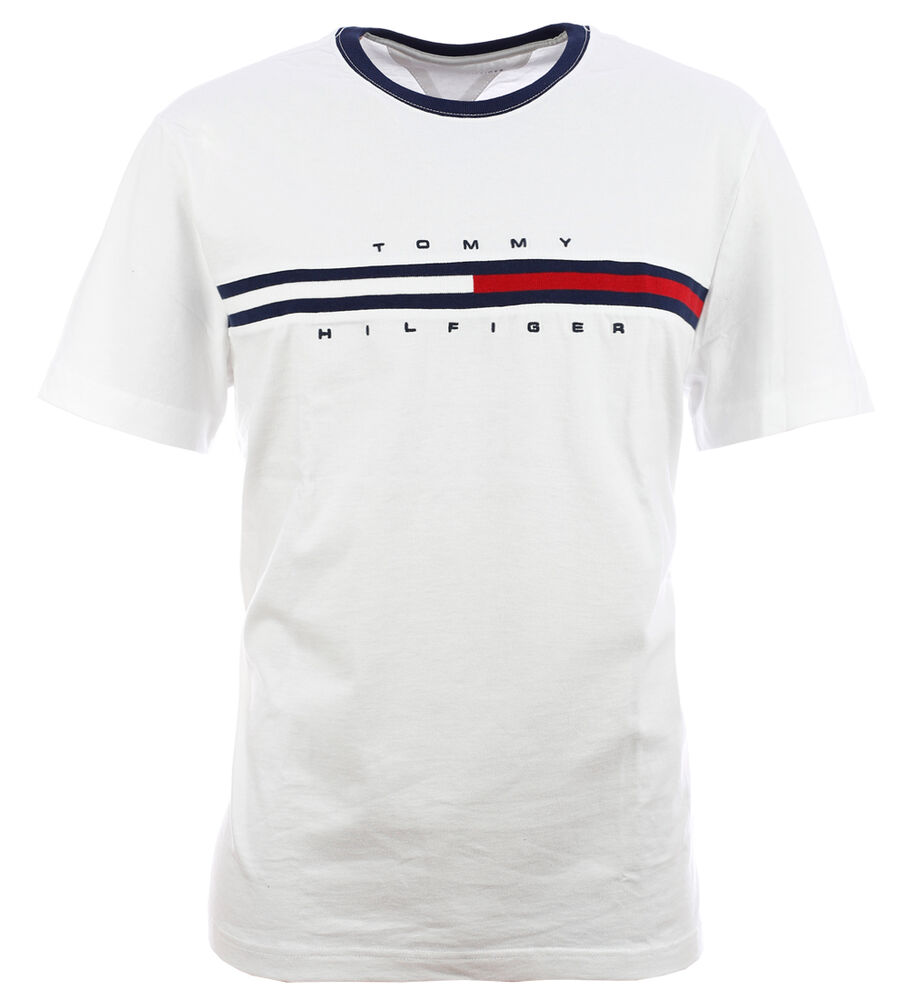 tommy hilfiger flag t shirt shirt white size s xxl ebay. Black Bedroom Furniture Sets. Home Design Ideas