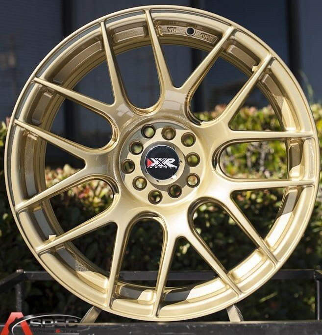 18X8.75 XXR 530 5X114.3 +33MM GOLD WHEEL FIT ACURA RSX DC5