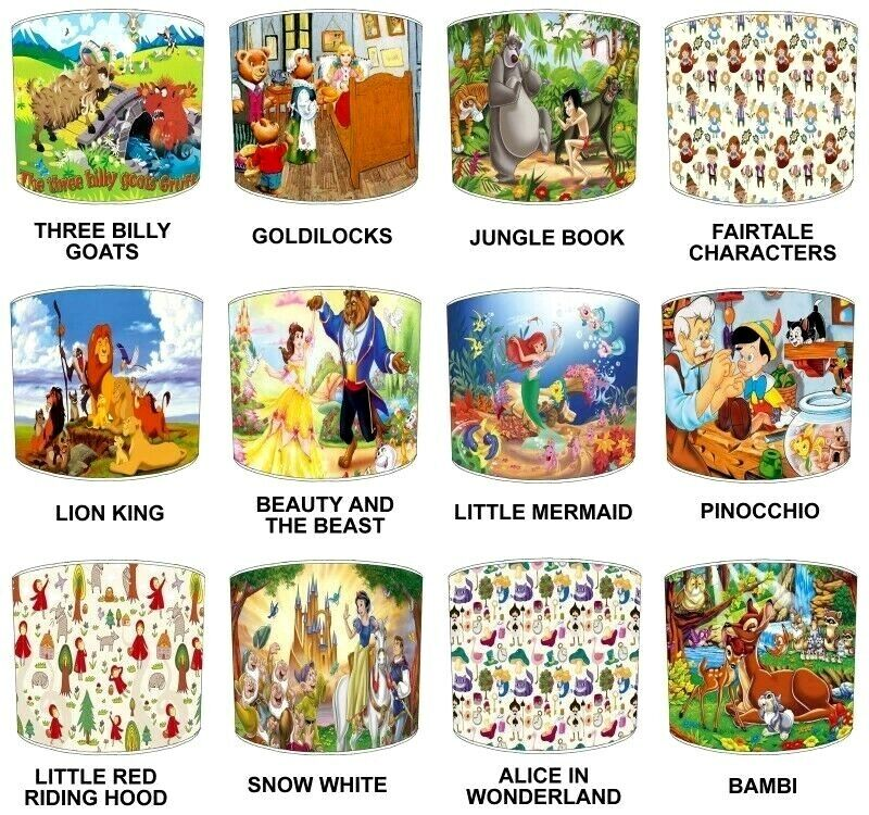 lampshades ideal to match children s fairy tales story duvets bedding curtains ebay. Black Bedroom Furniture Sets. Home Design Ideas