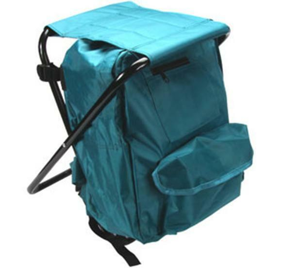 Fishing Stool With Backpack Rucksack Seat Chair Folding Camping Lightweight F