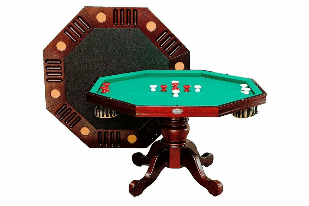 3 in 1 54 octagon combo game table bumper pool poker - Bumper pool bumpers ...