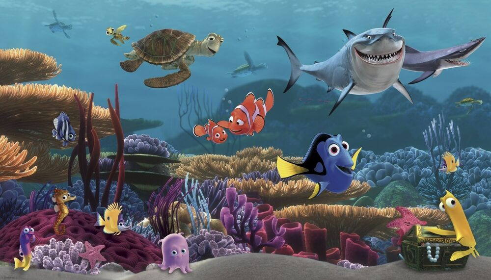 finding nemo prepasted wall mural new xl disney wallpaper bedroom finding nemo prepasted wall mural new xl disney wallpaper bedroom bathroom decor ebay