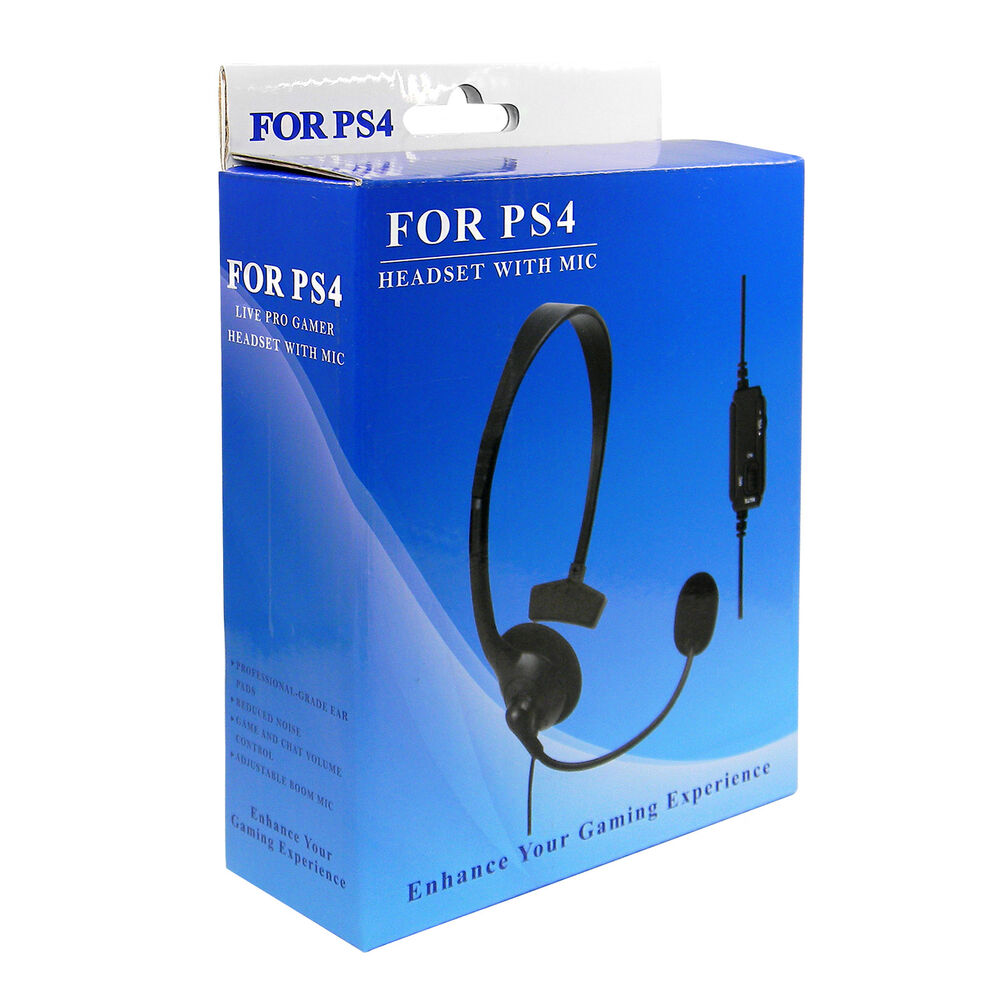 playstation ps4 gaming headset kopfh rer mit mikrofon. Black Bedroom Furniture Sets. Home Design Ideas