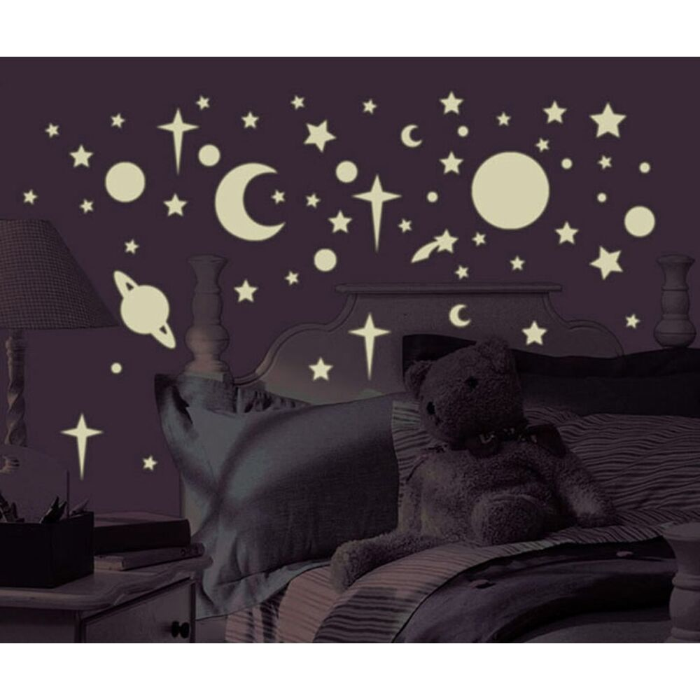 258 New Glow In The Dark Stars Suns Planets Wall Decals