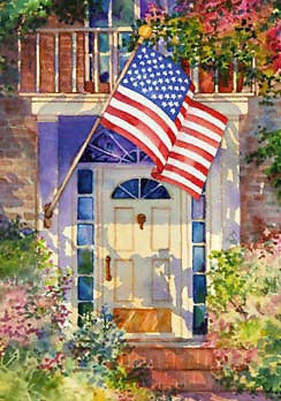 TOLAND AMERICAN FLAG PATRIOTIC HOME LARGE HOUSE FLAG 97F