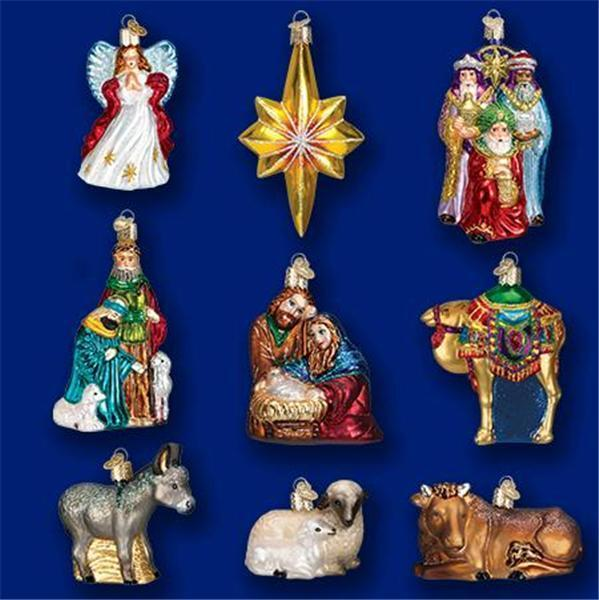 Nativity collection boxed set of old world christmas